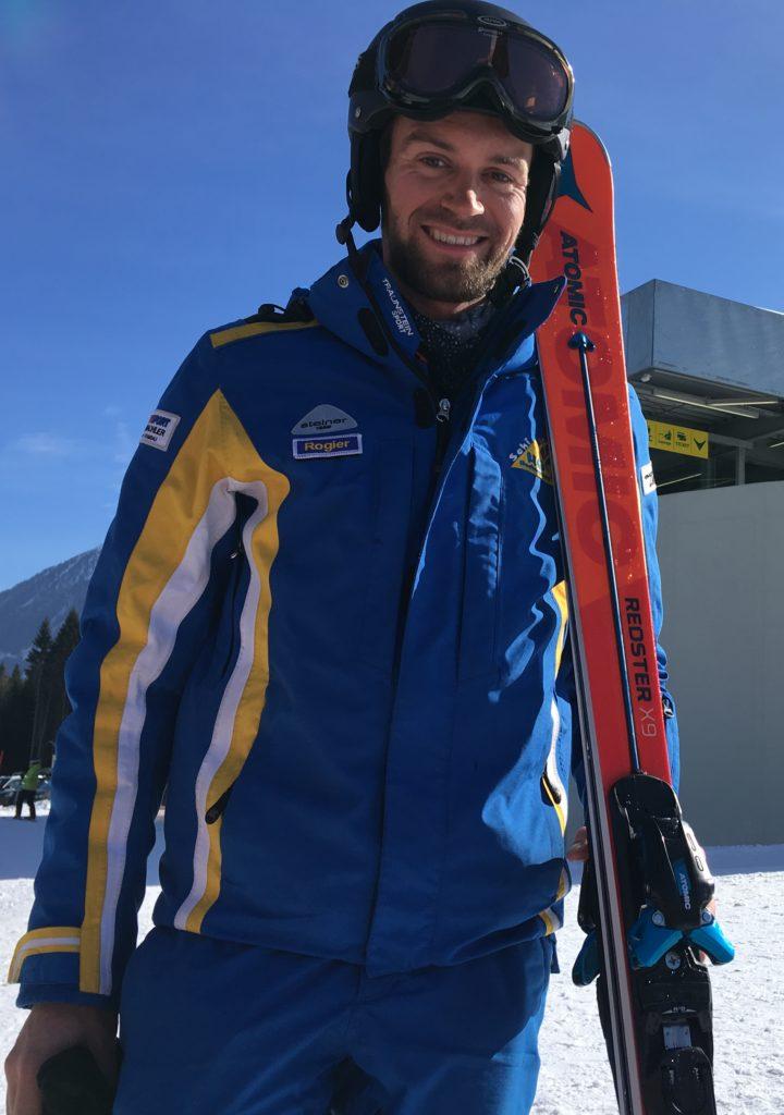 Rogier van RoKo Sports in de sneeuw